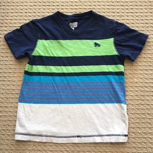 EUC! Old Navy Multicolored Striped V-Neck Tee